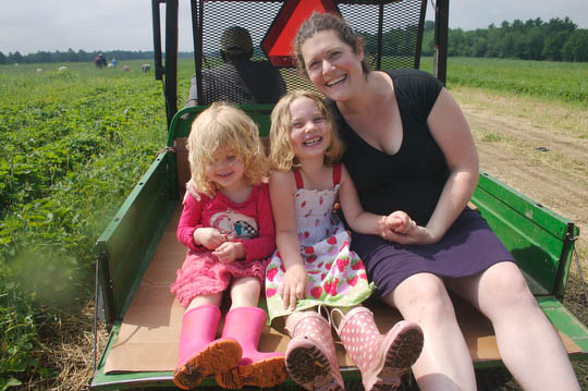 Our annual strawberry picking trip to Gillespie Farms