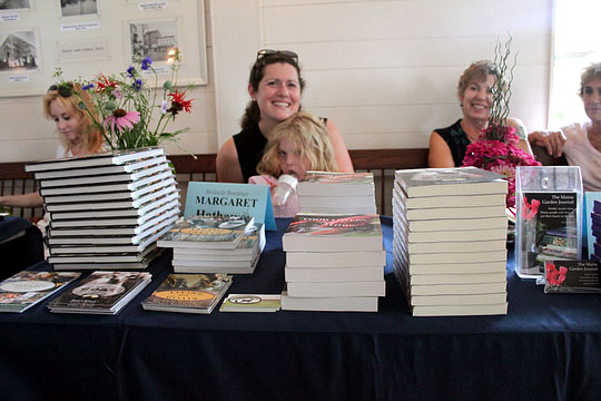 On Saturday Margaret was signing books at the Boothbay Book Fair, where she shared a table with Lisa Colburn and Barbara Damrosch!