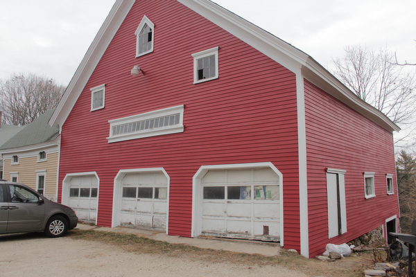 Big Red Barn: The barn has been completely and beautifully re-sided and repaired.