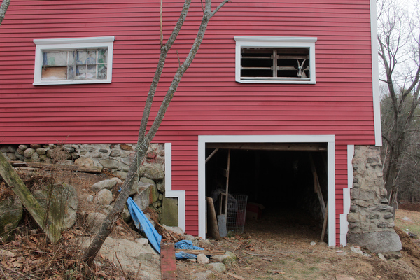 The goats still have their view, and some nice siding work around the barn cellar.