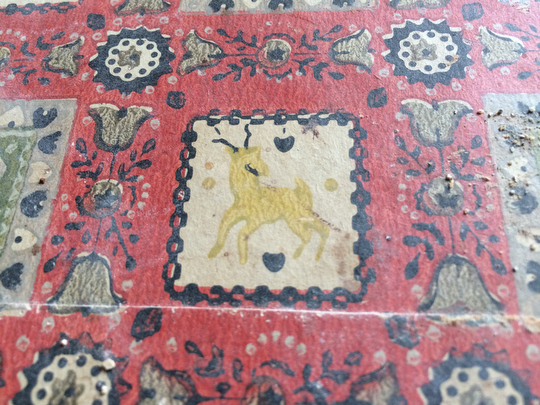 Found on a piece of old wallpaper that once adorned the kitchen... is that a goat?!