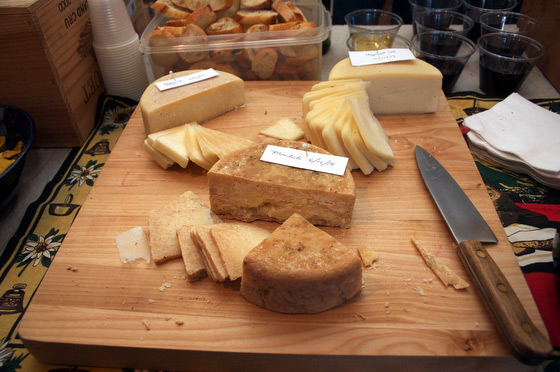 A selection of some of our aged raw milk cheeses, a gouda, and the Ten Apple Farm Mon-Cha-Cha