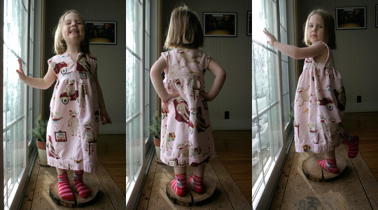 "Cha Cha models her new ""sleeping dress"""