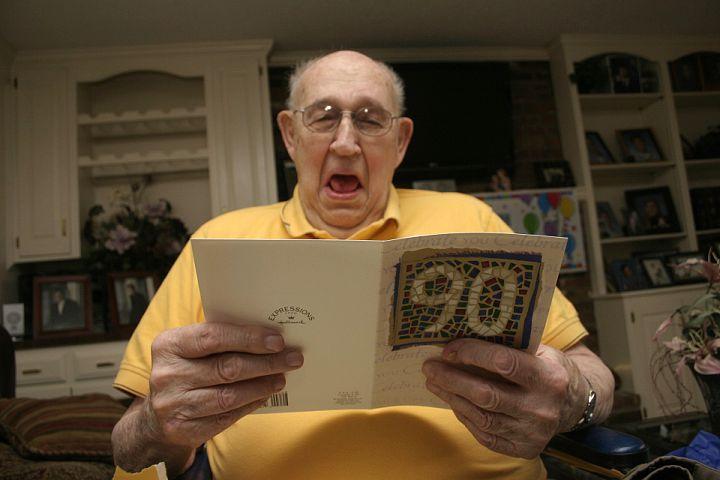 Grampa at his 90th birthday party