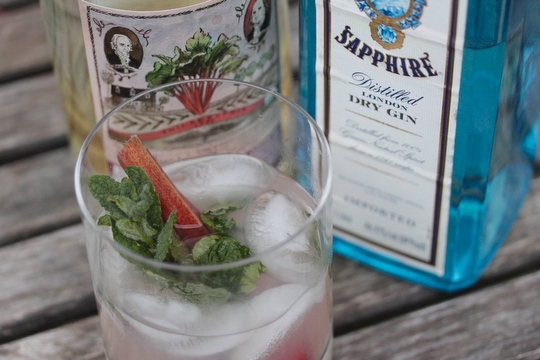 The rhubarbhito, a spring cocktail with some real spring to it